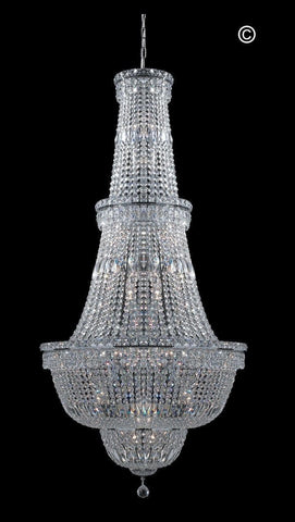 Empress Large Crystal Basket Chandelier - CHROME - Lights - 34 - Designer Chandelier