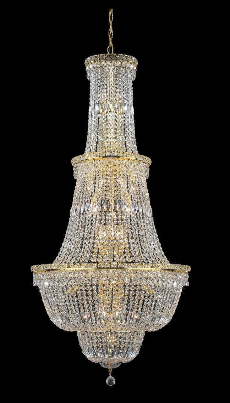 Empress Large Crystal Basket Chandelier - GOLD - Lights - 34 - Designer Chandelier