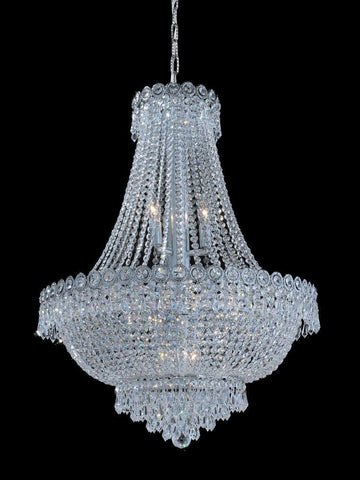 Empire Basket Chandelier - CHROME - 12 Light - Designer Chandelier