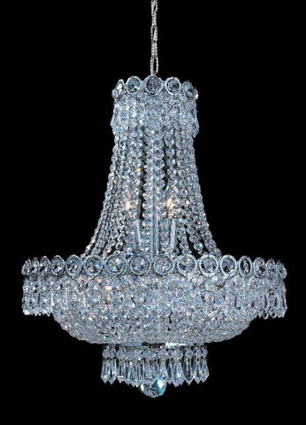 Empire Basket Chandelier - CHROME - 8 Light - Designer Chandelier