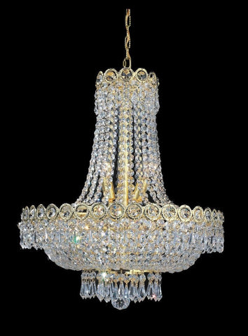 Empire Basket Chandelier - GOLD - 8 Light - Designer Chandelier