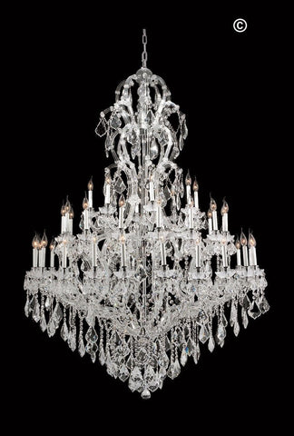 Maria Theresa Crystal Chandelier Royal 48 Light - CHROME
