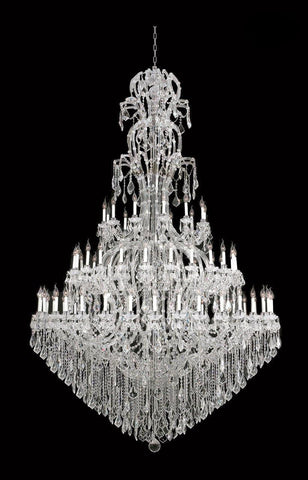 Maria Theresa Crystal Chandelier Royal 72 Light - CHROME-Designer Chandelier Australia