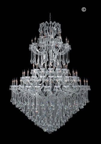 Maria Theresa Crystal Chandelier Grande 84 Light- CHROME