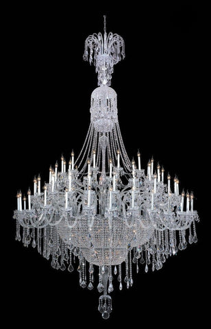 Bohemian Prague 122 Light Crystal Chandelier - CHROME - Designer Chandelier