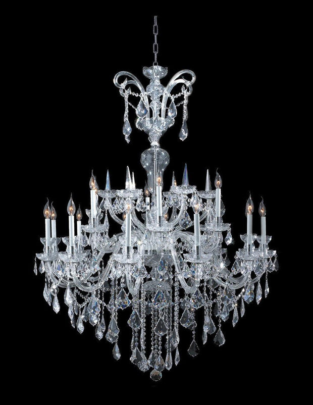 Bohemian Prague 18 Light Crystal Chandelier - CHROME - Designer Chandelier