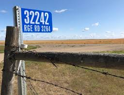 Example of rural address signs