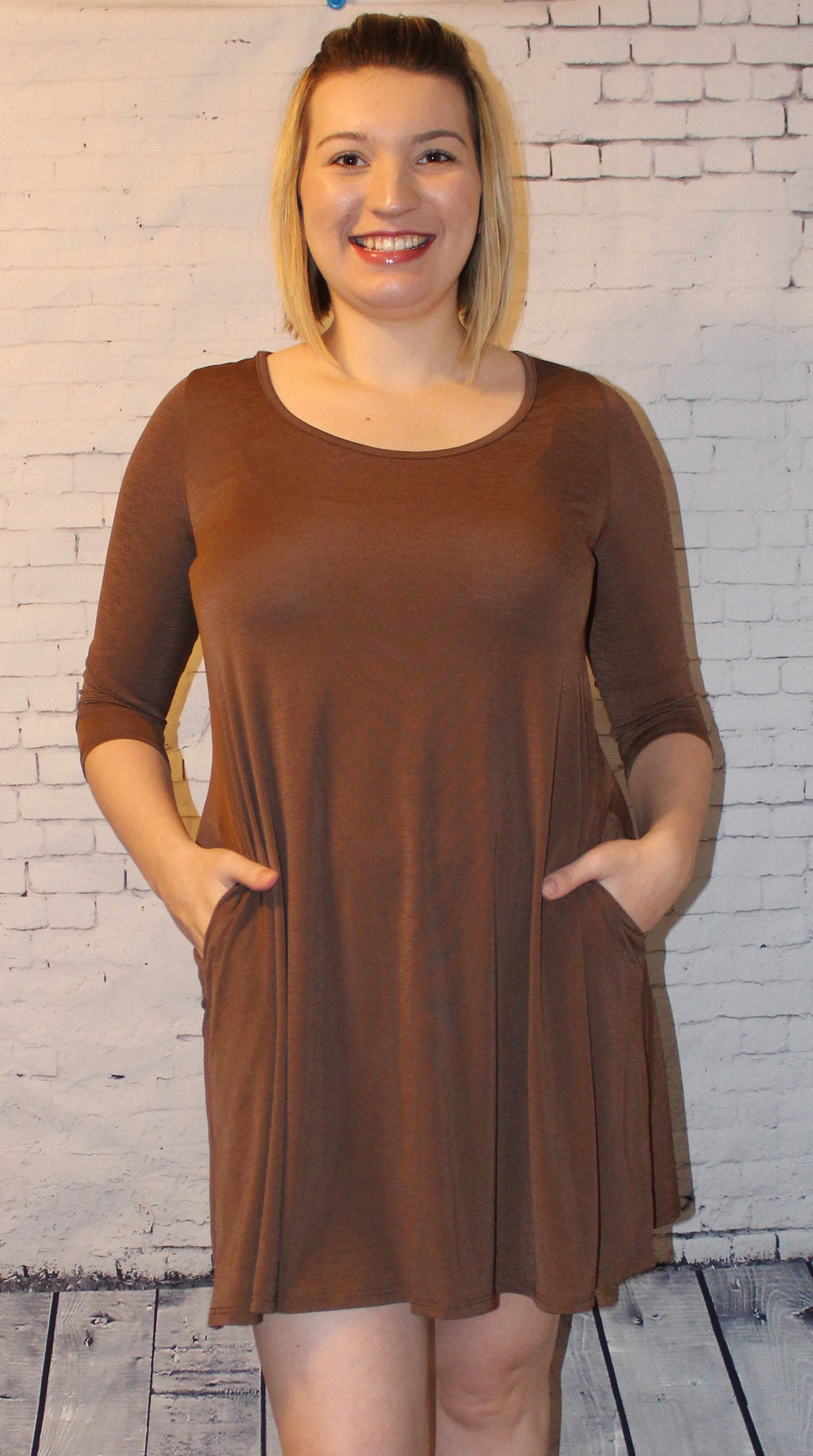 Chocolate Mocha Pocket Dress