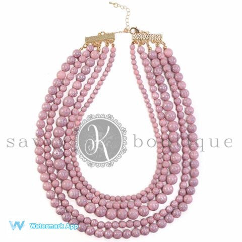 Sophia Necklace- Pink