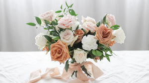 Caramel garden rose bouquet