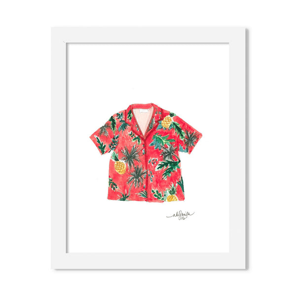 hawaiian shirt - 8 x 10 print - JustGreet