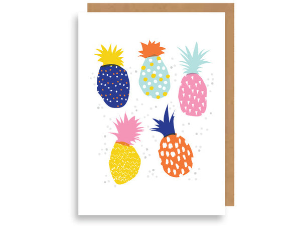 multi-colour pineapples
