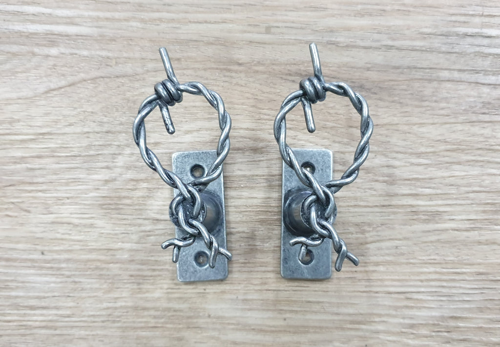 Barbed Wire Pistol Hangers
