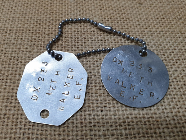 WW2 Australian Dog Tags (PR) (LT) Army