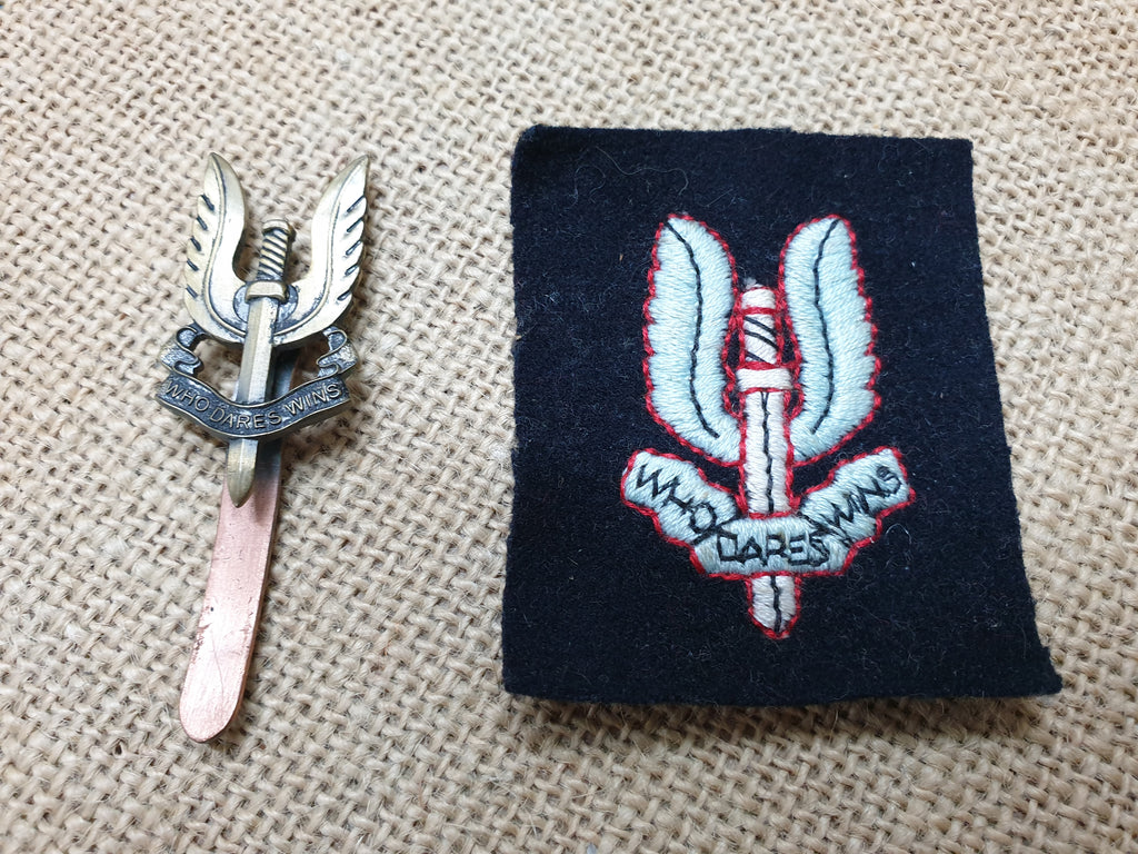Modern Army S.A.S Cap Badge & Patch