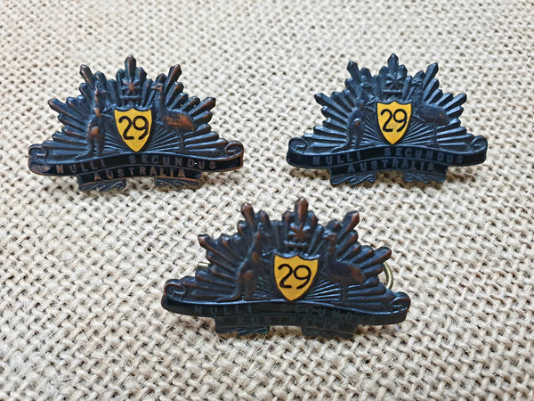29th Battalion WW2 Rising Sons Set (collar)