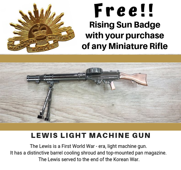 Miniature Lewis Light Machine Gun