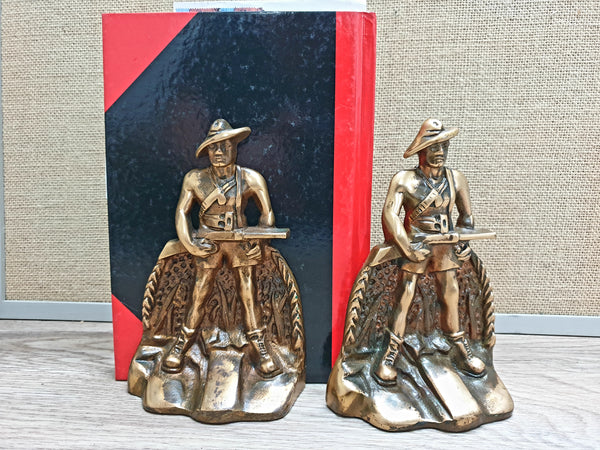 Book Ends (Brass) WW2 Aust Digger (PR)