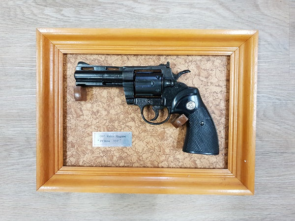Replica Pistols with Wall Hangers (framed)