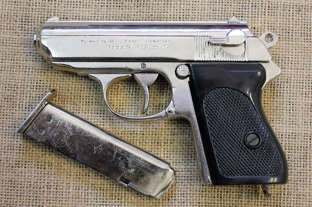 chrome walther ppk replica pistol collectors armoury