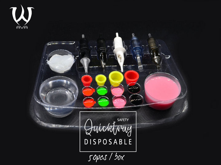 Quick Tray Ink Cups Disposable - 50 pieces