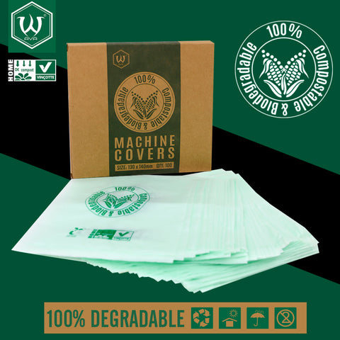 Biodegradable Machine Covers 130mmx140mm (100)