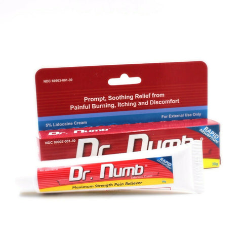 Dr. Numb Numbing - Lidocaine Cream 5% - Topical Anesthetic