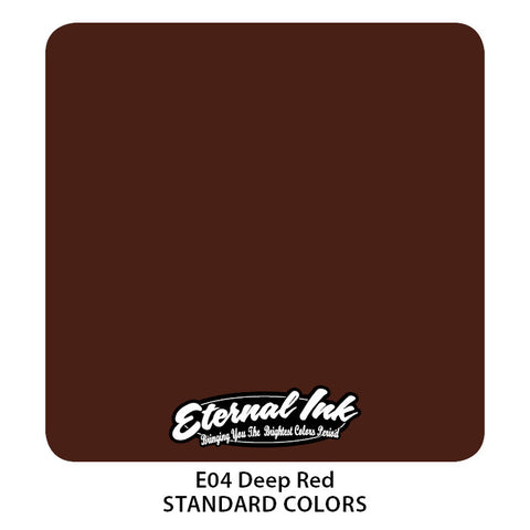 Eternal Tattoo Ink Deep Red, 1oz, -