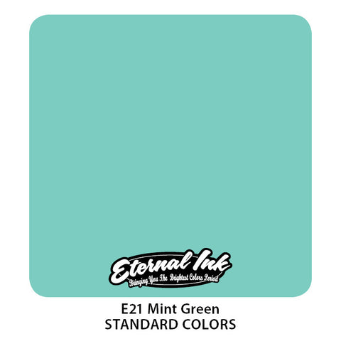 Eternal Tattoo Ink Mint Green, 1oz, -