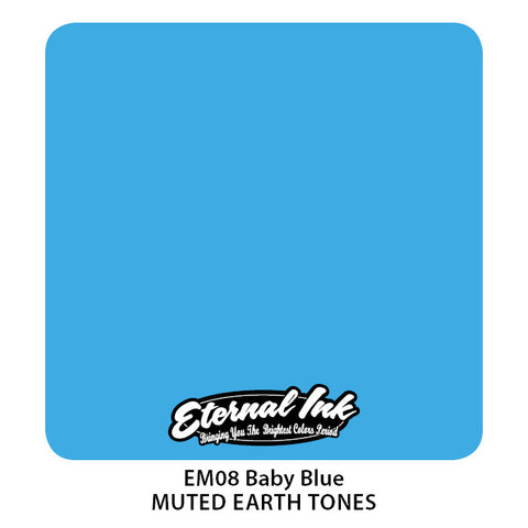 Eternal Tattoo Ink Baby Blue, 1oz, -