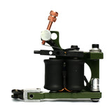 Bavarian Custom Irons 'CUBE' Liner Coil Tattoo Machine - Olive Green