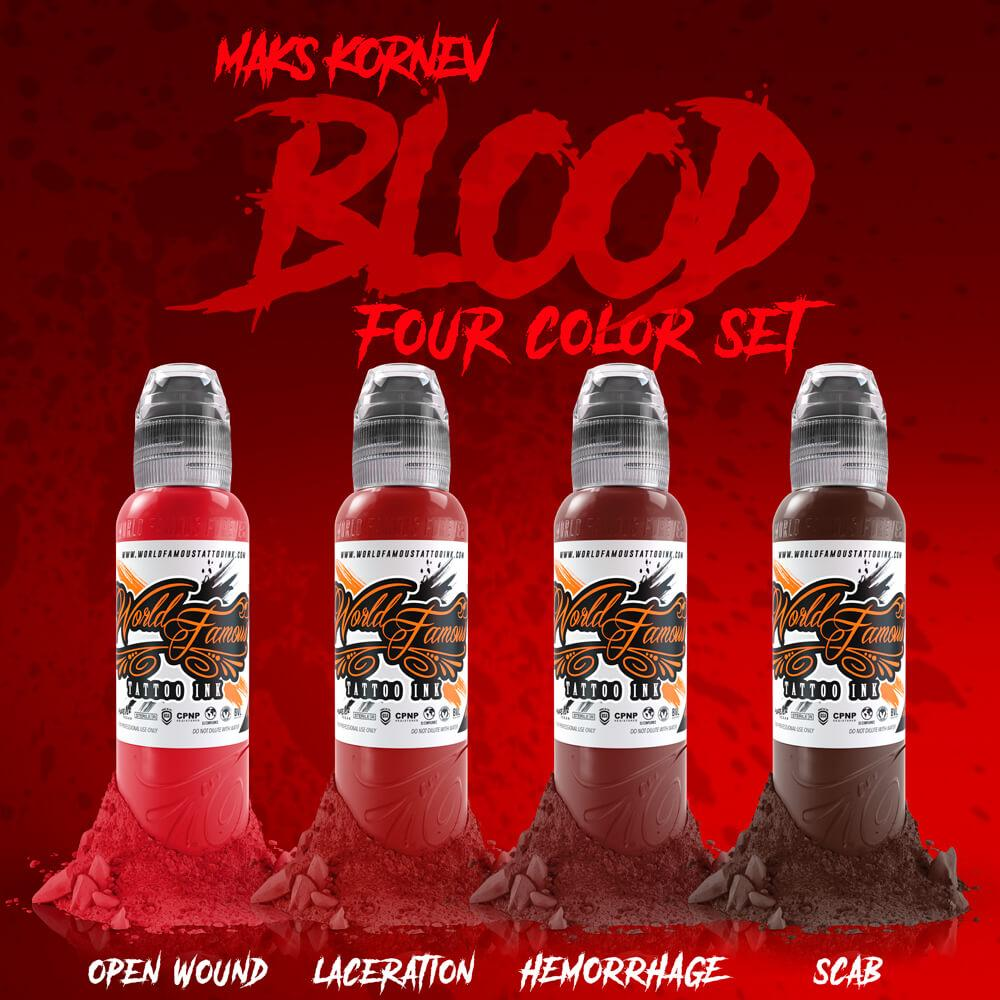 World Famous 4 bottle Mak's Blood Set 1oz
