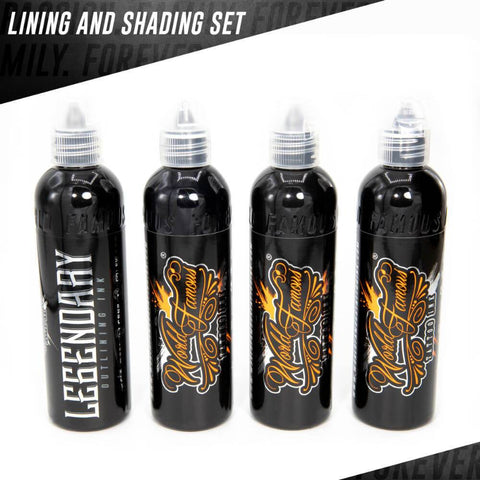 World Famous 4 Bottle Lining and Shading Set 1oz