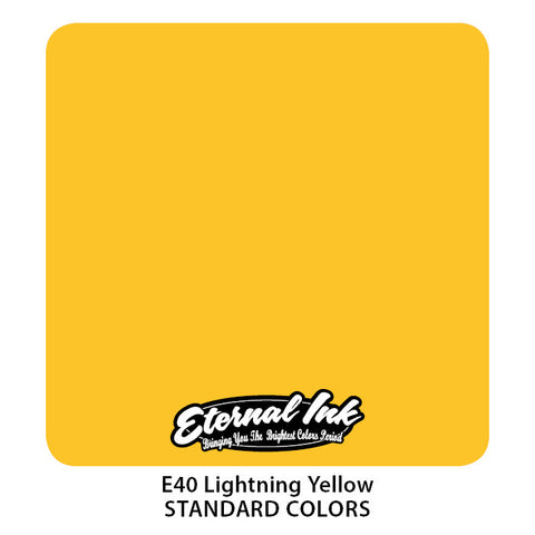 Eternal Tattoo Ink Lightning Yellow, 2oz, -
