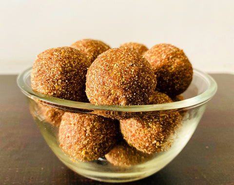 Ragi and Amaranth flour laddoos