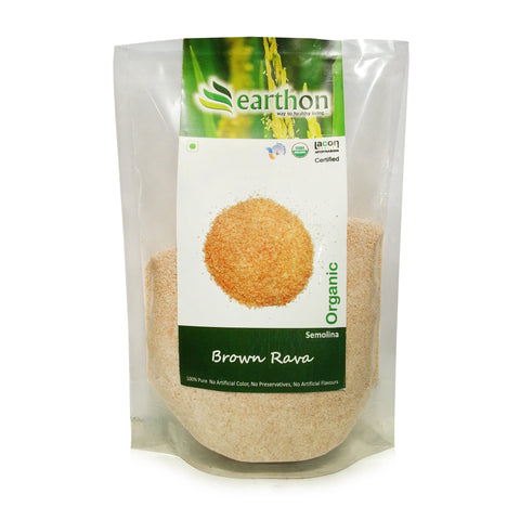 Organic Brown Rava/Suji (Semolina) - 500 gm