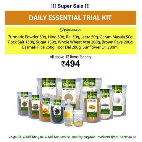 Daily Essential Trial Kit - Combo of 12 Organic essential products