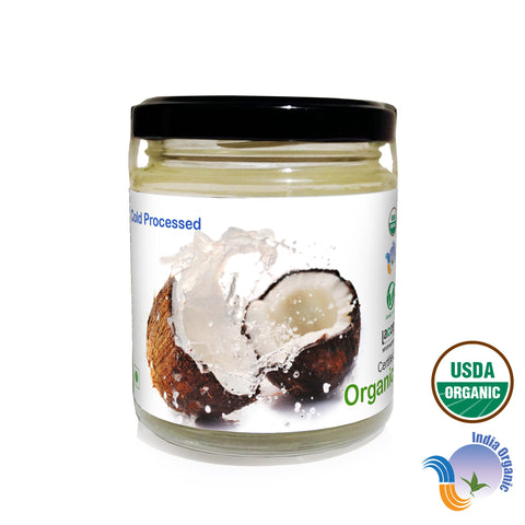 Organic Extra Virgin Coconut Oil (Wide Mouth Glass Bottle)