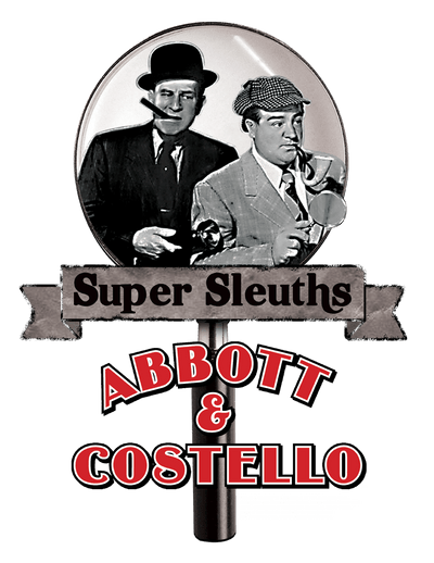Abbott and Costello Super Sleuths Juniors V-Neck T-Shirt