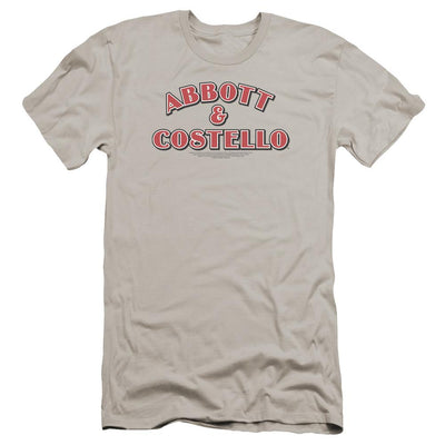 Abbott and Costello Logo Men's Premium Slim Fit T-Shirt