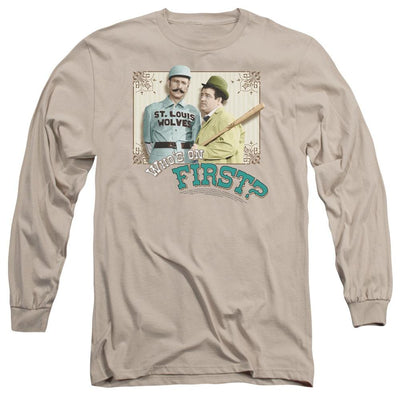 Abbott and Costello Whos On First Men's Long Sleeve T-Shirt