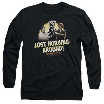 Abbott and Costello Horsing Around Men's Long Sleeve T-Shirt