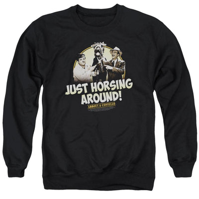 Abbott and Costello Horsing Around Men's Crewneck Sweatshirt