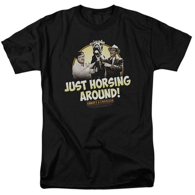 Abbott and Costello Horsing Around Men's Regular Fit T-Shirt