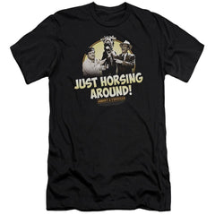 Abbott & Costello Horsing Around Premium Adult Slim Fit T-Shirt