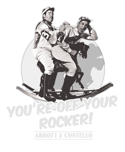 Abbott and Costello Off Your Rocker Men's Premium Slim Fit T-Shirt