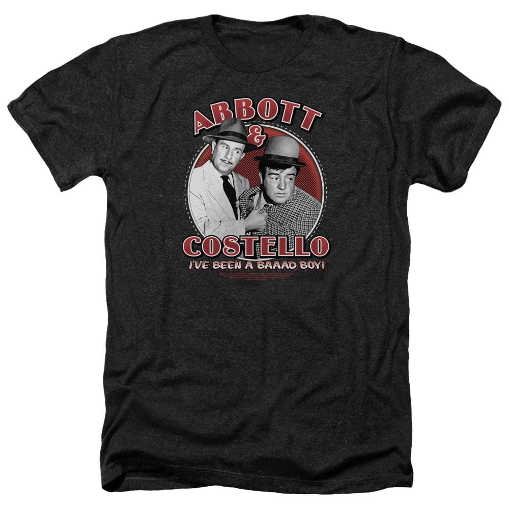 Abbott & Costello - Bad Boy Adult Regular Fit Heather T-Shirt