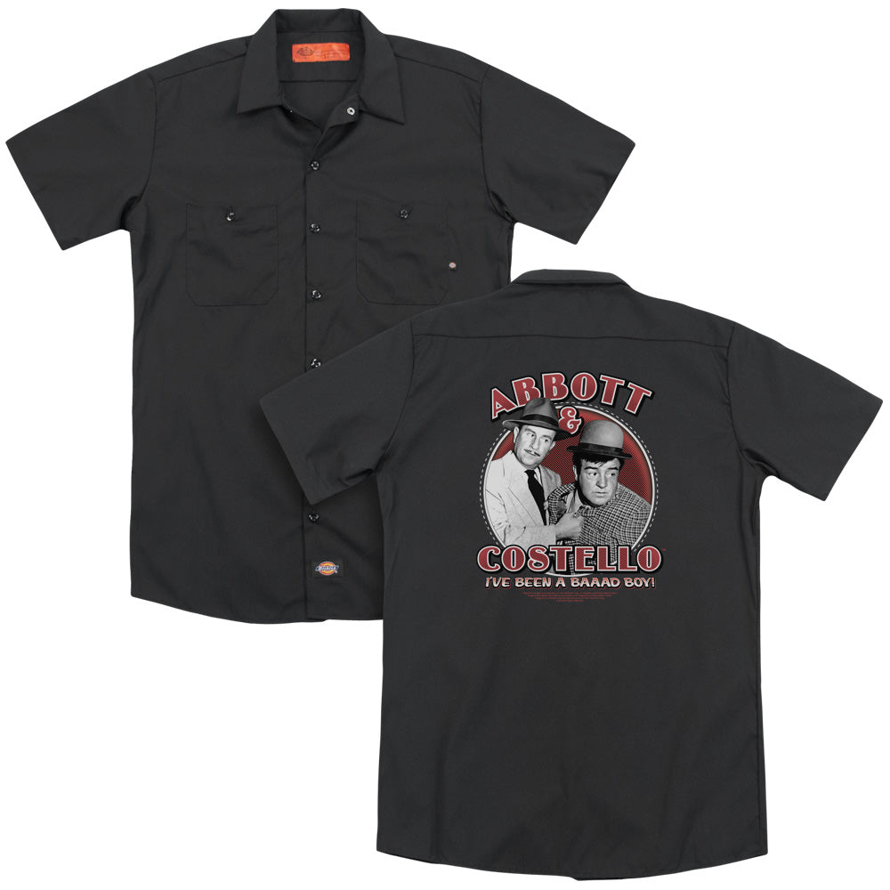Abbott & Costello - Bad Boy Adult Work Shirt
