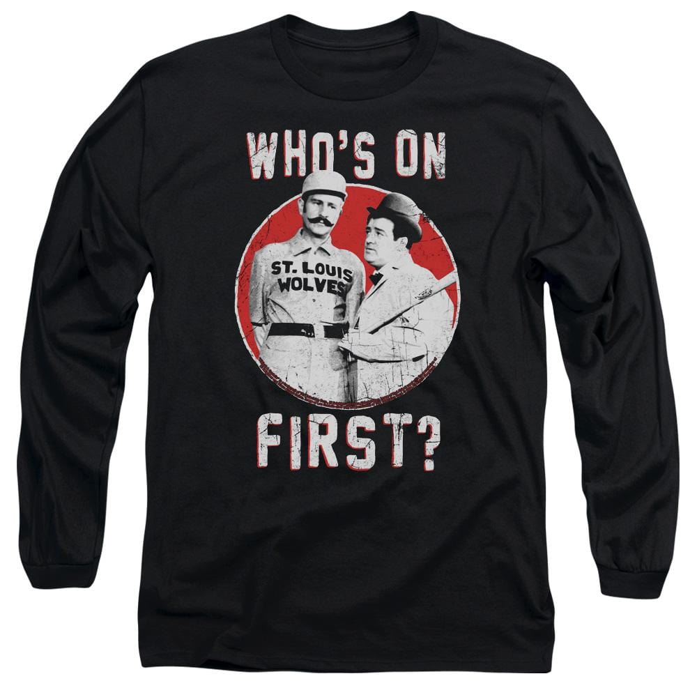 Abbott & Costello First Adult Long Sleeve T-Shirt