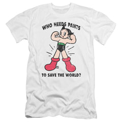 Astro Boy Who Needs Parts Premium Adult Slim Fit T-Shirt